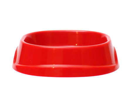 pet food bowl on a white background photo