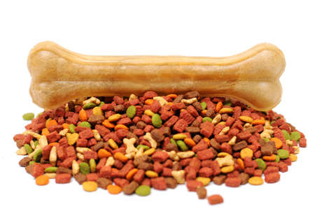 Different types of dry food for dogs Stock Photo - 20818616