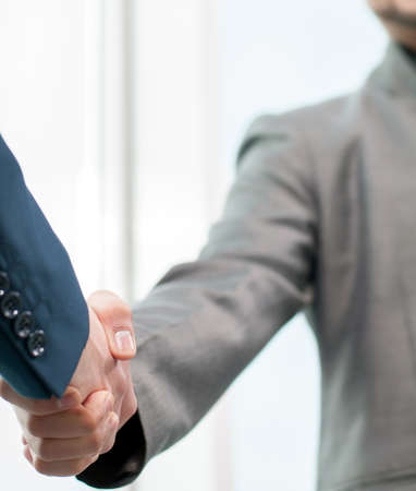business handshake: Business Man. Business handshake and business people