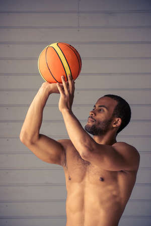 Muscular black nude basketball players — img 11