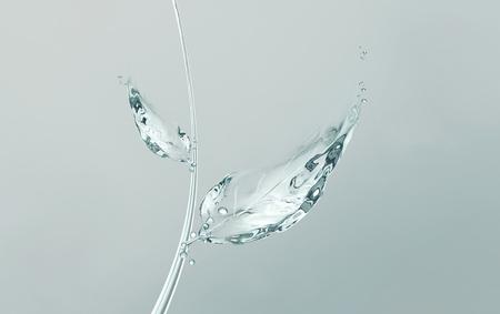 물로 만든 줄기가있는 줄기. 그것은 물, 환경 복지, 수화 및 보습의 중요성 등을 통해 생명을 상징 할 수 있습니다. 스톡 콘텐츠