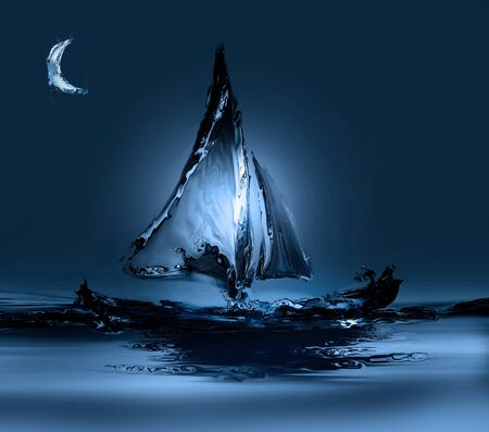 Boat in Moonlight