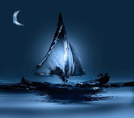Boat in Moonlight