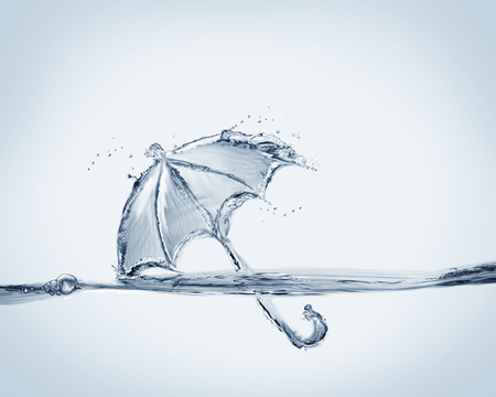 An umbrella made from water for protection against rain!