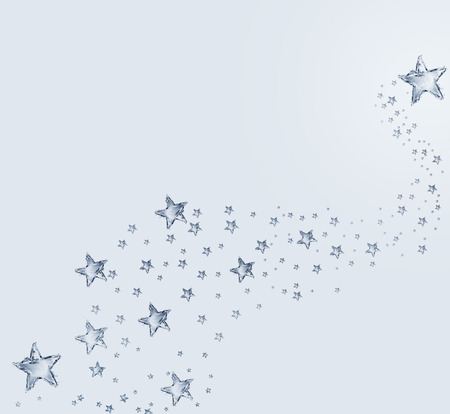 A background of water stars floating in a magical pattern. 스톡 콘텐츠