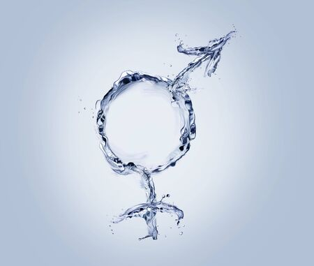 Merged male and female water symbol. Archivio Fotografico