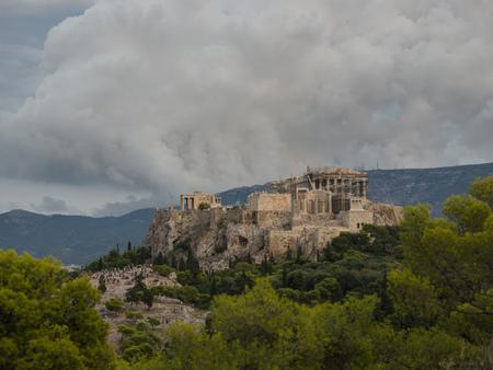 Acropoli da Fiolopappou view pont Archivio Fotografico - 97720318