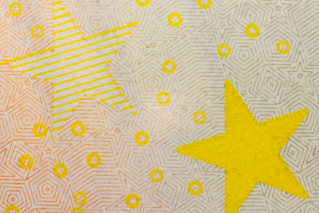 A closeup photo of a part of fifty euro bill