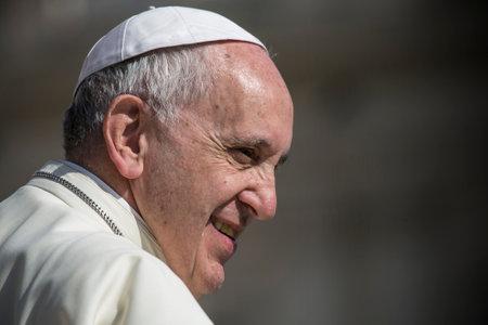 VATIKANSTADT, VATIKAN - Juni 2016: Papst Franziskus während einer wöchentlichen Zeremonie in der Vatikanstadt.