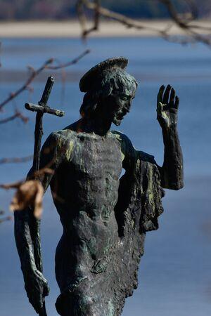 john the baptist: Saint John the baptist statue