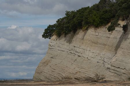 formation: Geological rock formation on the beach