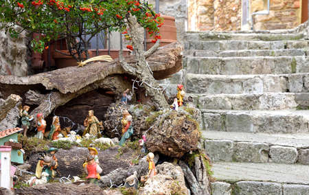and diurnal: crib in the streets of the village