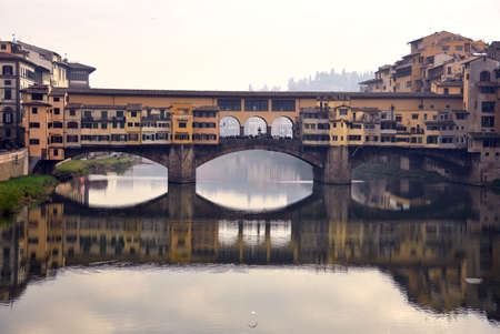 old bridge: florence and the old bridge Stock Photo