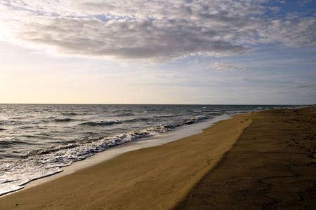 beach panorama: beach panorama with cloud