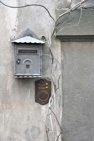 interphone: old mailbox and old intercom