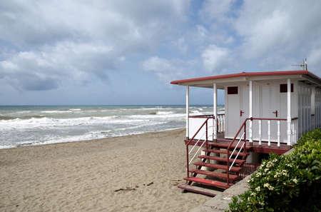 bathhouse: beach with bathhouse