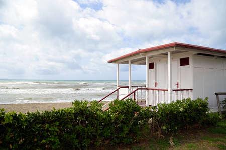 bathhouse: bathhouse on the beach