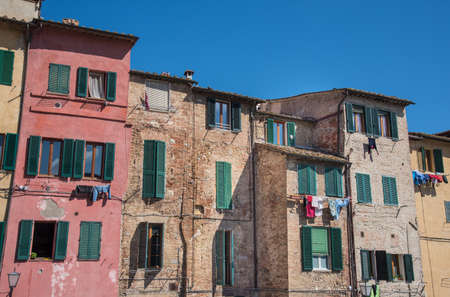 siena italy: houses in the city of Siena, Italy Stock Photo