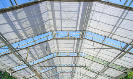 roof structure: roof structure of a greenhouse