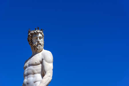 neptune: statue of neptune, florence, italy