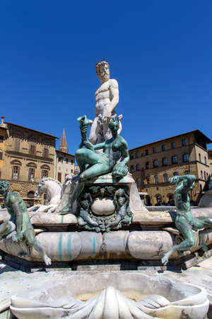 neptuno: fountain of neptune in florence, italy Foto de archivo