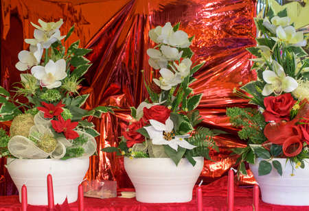 festivities: floral arrangement for christmas festivities