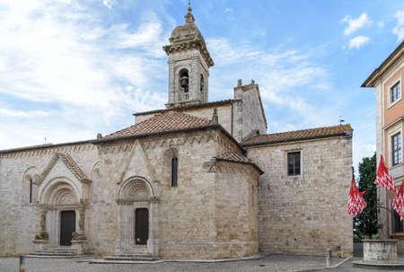 san quirico: antique cathedral, San Quirico dOrcia, tuscany, italy