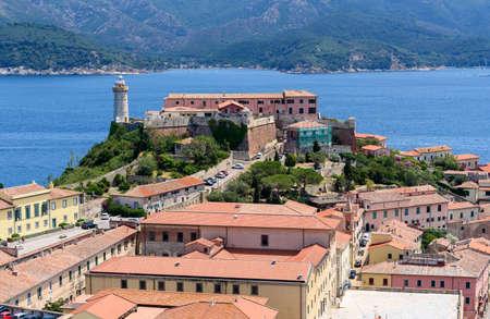 livorno: Panoramic view over Portoferraio, Elba Island, tuscany, Italy