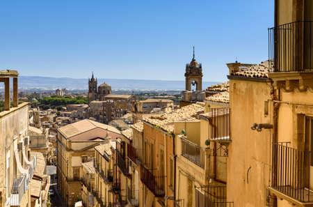 Caltagirone, Catania province, sicily, italy 版權商用圖片