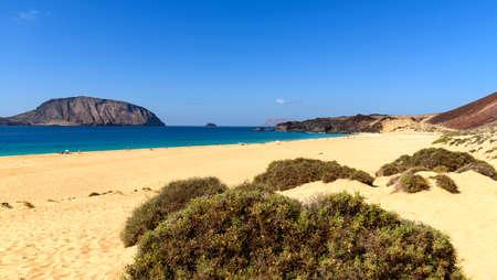 플라 야 드 라스 Conchas, Graciosa 섬, Lanzarote, 카나리아 제도