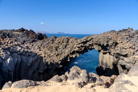 Los Arcos at the Graciosa Island, Canary Islands, Spain