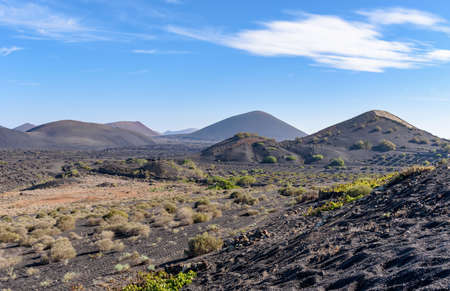 landscape at Lanzarote island, Canary islands, Spain