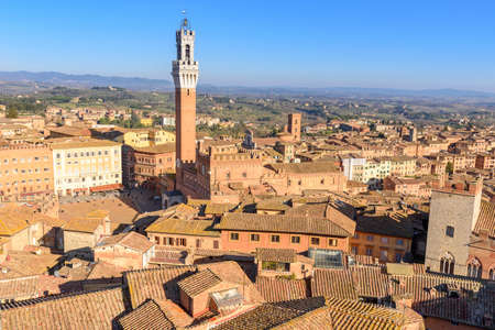 aerial view of Siena, tuscany, Italy Stock Photo