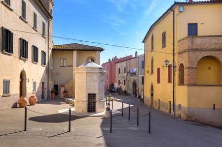the village of Magliano in toscana, tuscany, Italy