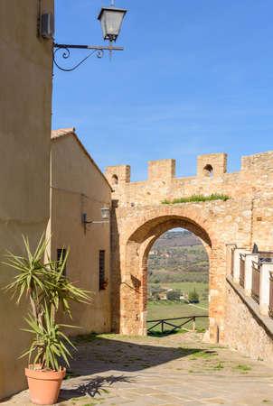 the walls of Magliano in toscana, tuscany, Italy