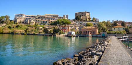 medieval town of Capodimonte on Bolsena lake, Italy Stock Photo