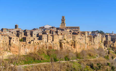 Pitigliano, Tuscany, Italy, view of the ancient town