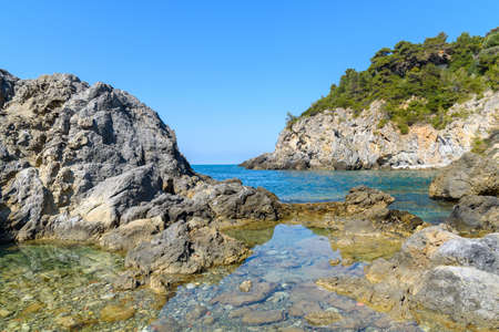 Talamone coast, Grosseto province, Tuscany, Italy Stock Photo