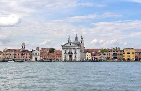 church of Gesuati (Santa Maria del Rosario) Foundations of Zattere, Venice, Italy Stock Photo