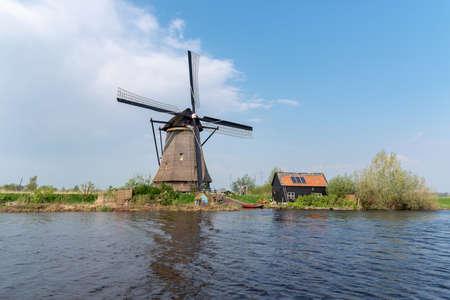 windmill at Kinderdijk in Holland, Netherlands
