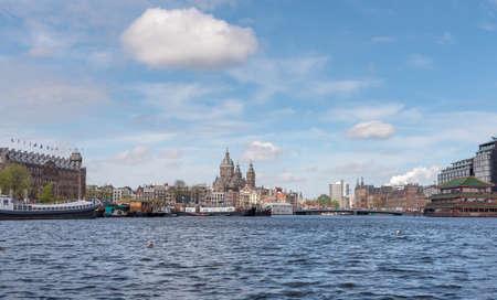 Amsterdam historic skyline Stock Photo