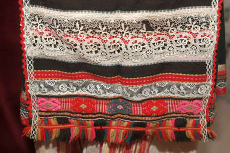folkstyle: Authentic folk-style details of costumes from Bulgaria