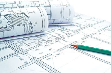 drawings image: Image of several drawings of the project and pencil