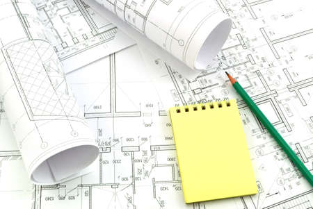 drawings image: Image of several drawings of the project and notebook