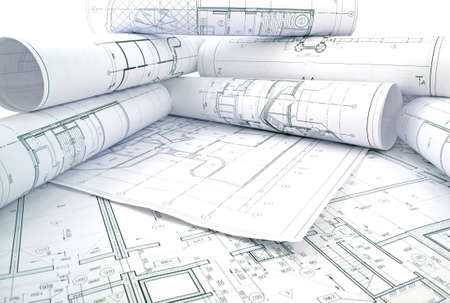 drawings image: Image of several drawings of the project