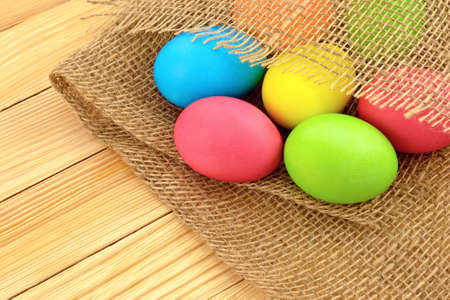 godly: painted in different colors Easter eggs