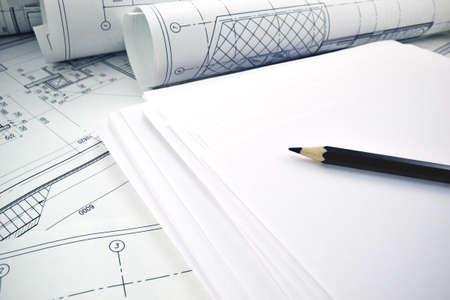 Paper sheets for a project Reklamní fotografie