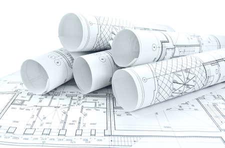 Fototekeningen voor het project engineering werk