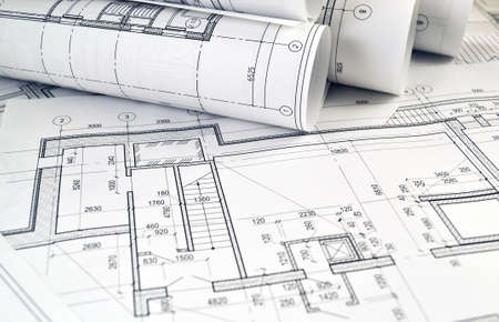 Dibujos fotográficos para el trabajo de ingeniería del proyecto. Foto de archivo