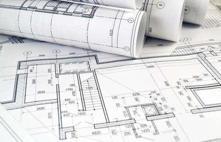Fototekeningen voor het project engineering werk Stockfoto